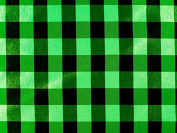 Checked Fabric, Black/Green, 148 cm