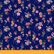 Soimoi Decorative 110cm Inches Wide Floral Print Moss Georgette Fabric For Sewing 130 GSM By The Metre - Blue