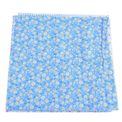 RainBabe Blue Cotton Floral Fabric Bundles Quilting DIY Craft Sewing Patchwork Cloths 25x25cm 7Pcs