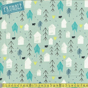 Cotton + Steel Cosy Neighbour Mint Sewing Fabric