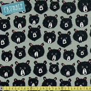 Cotton + Steel Black & White Teddy And The Bears Grey Sewing Fabric