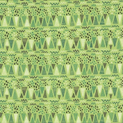 Sweat Fabric Triangles, Geometric Green