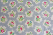 Rose Bud Cotton Blue Curtain Fabric Designer Material Sewing Upholstery Curtain Craft Fabric