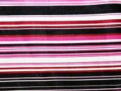 Stripe Print Stretch Satin Dress Fabric Pink - per metre