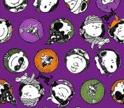 United Media - Peanuts Trick Or Treat Fabric, Cotton, Purple