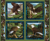 Wild Wings Flying High Pillow Fabric, Cotton, Brown