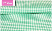 "Premium 100% Cotton Fabric, fashionable patterns, width 160cm (63"") per 0,5 metre – pink chequered pattern"