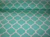 "Premium 100% Cotton Fabric, fashionable patterns, width 160cm (63"") per 0,5 metre – moroccan lattice geometric"
