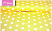 "Premium 100% Cotton Fabric, fashionable patterns, width 160cm (63"") per 0,5 metre – Big dots on grey"