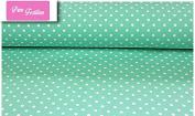 "Premium 100% Cotton Fabric, fashionable patterns, width 160cm (63"") per 0,5 metre – mint green dots"