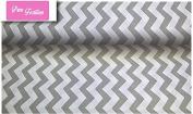 "Premium 100% Cotton Fabric, fashionable patterns, width 160cm (63"") per 0,5 metre – grey zigzags"