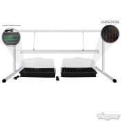 1.2m White Steel Plant Propagation Station Stand