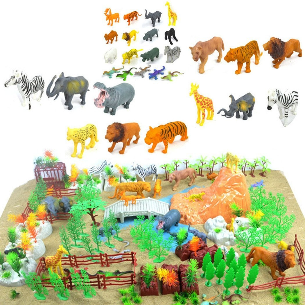 ff227810dd03a 200 Pieces Wild Animal Toys Solid Figures Plastic Toy Zoo Farm Jungle Animals  Playset by SGKN - Shop Online for Toys in New Zealand