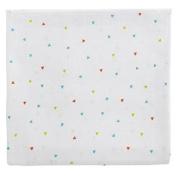 Poyetmotte Maxi Nappies Set, White - Triangles, 3-Piece