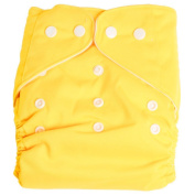 Fostly Baby Nappy Cover Reusable Baby Soft Cloth Nappy Washable Nappy Adjustable Nappies For Newborn Yellow