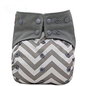 AIO Reusable Washable Cloth Nappy Nappy Charcoal Bamboo Insert Overnight