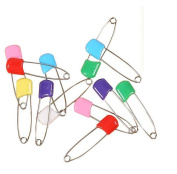 Multicolor 100 Pcs 5.5cm Baby Safety Pins Plastic Head Baby Child Infant Cloth Nappy Nappy Pins Locking Pins Clips