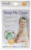 Summer Infant Keep Me Clean Disposable Nappy Sacks, 75 Count