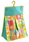 Yuga 100% Cotton Twill Kids Theme Hanging Nappy Bag Nappy Stacker Organiser