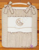 Nursery Baby Cot Tidy Organiser for Cot or Cot Bed BEAR MOON - BEIGE