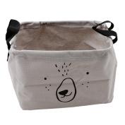 Albeey storage box linen storage basket with handle