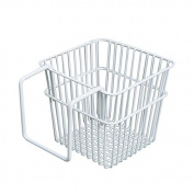 CUPWENH Bedside Storage Basket, Wall Hanging Storage Basket, Square Bedside Basket, Kitchen Sundries Basket, Bathroom Iron Storage Basket
