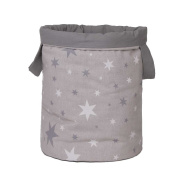 Funny Baby 608200 – juguetero Padded 30 x 40 cm, design Stars, Grey