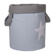 Funny Baby Vichy juguetero Padded 30 x 40 cm blue stars design