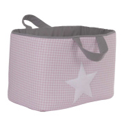 Funny Baby Vichy juguetero Padded 30 x 45 x 27 cm, design Stars, Pink