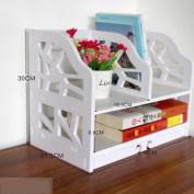 Freestanding Book Shelf / Desk Top Organisation Minimalist Modern Bookshelves Desk Shelves Racks A 40 * 30 * 21.5cm Rack