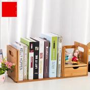 Freestanding Book Shelf / Desk Top Organisation Table Little Bookshelf Racks Scalable Small Desk Rack B