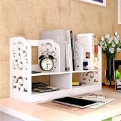 Freestanding Book Shelf / Desk Top Organisation Easy Mini Desktop Racks Desk Little Bookshelf Dimensions