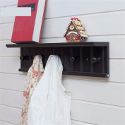 Freestanding Book Shelf / Desk Top Organisation Coat Rack Wall Coat Rack Hangers Racks Adhering The Coat Hook Brown