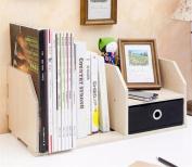 Freestanding Book Shelf / Desk Top Organisation Creative With Drawers Office Little Bookshelf Table Summary Little Bookshelf A 40 * 18 * 21CM Racks