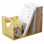 Freestanding Book Shelf / Desk Top Organisation Creative Plastic Children Desktop Little Bookshelf Books Desk File Rack 34 * 21.5 * 19cm Yellow Green