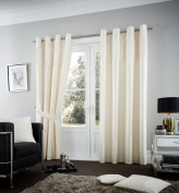 Coton Mode Fuel Cream Fully Lined Plain Polyester Eyelet Bedroom Curtains Available Sizes(55x90,66x72,66x90,90x90) (