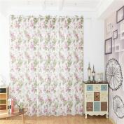 AAA226 Country Style Flower Prints Window Curtain Sheer Drape Valance Home Decor