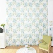 AAA226 Flower Curtain Window Panel Divider Valance Door Room Drape - 100x200cm