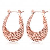 Multi-layer Rope Twist Hoop Earring Women Fashion Gift For Women Girl 18ct Gold Plated