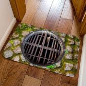 3D Manhole Cover Bathroom Mat Beautiful Pattern Bedroom Kitchen Decorative Rug Water 40x60cm,D-40x60cm