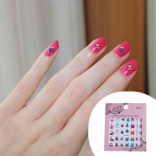 Demiawaking 5 Sheets Christmas Nail Art Stickers 3D Nail Manicure Tips Decals Nail Design for Women Girls
