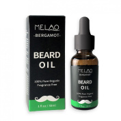 100% Natural Beard Oil and Leave in Conditioner Softner, Organic, Fragrance Free 30 ml