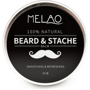 Beard Balm with argan oil and mango butter, Natural beard wax for beard care & styling balm, Leave-in Conditioner, 60g