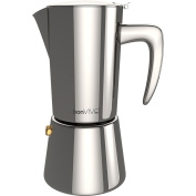 Bonvivo® Intenca Espresso Maker Made Of Stainless Steel With Chrome Finish, For Full Bodied Espresso, Classic Moka Pot, For 6 Cups Of Espresso