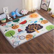 Ustide Baby Play Mat Cotton Floor Gym - Non-Toxic Non-Slip Reversible Washable, Large