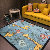 Ustide Colourful Cartoon Area Rugs Anti-slip Kids Bedroom Carpet Baby Crawling Mats Machine Washable Rugs,Normal,12cm x 1.8m4