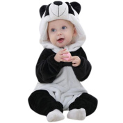Baby Clothes,FeiXiang Newborn Baby Boys Girls Winter Warm Panda Cartoon Hooded Rompers Outfits Clothes