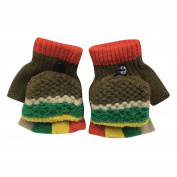 Kolylong Kids Winter Gloves for 1-5years, Cute Thicken Patchwork Hot Girls Boys Warm Gloves