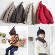 JaneDream Baby Boy Girl Infant Knitted Hat Cute Windmill Pointed Angle Bebe Caps
