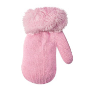 Unbekannt Baby Girls' Gloves pink One Size